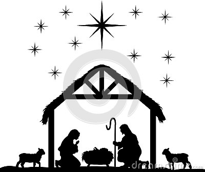 Where can I get a silhouette of a nativity scene?