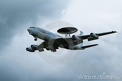 NATO AWACS radar airplane Editorial Photography