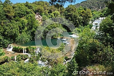 Natsmonalny park of Krka Croatia.