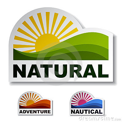 Natural adventure nautical stickers