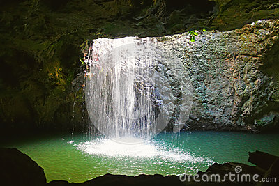 Natural Arch Waterfall
