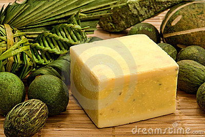 Natural Aromatherapy Artisanal Soap in a Spa