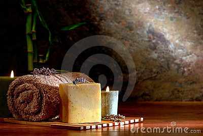 Natural Aromatherapy Bath Soap Bar in a Luxury Spa