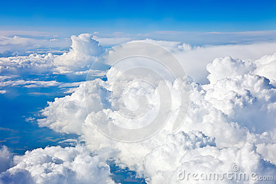 Natural background: cloudy sky