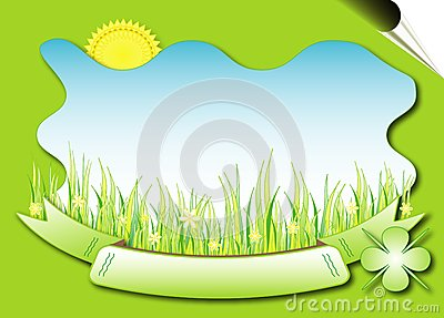 Natural background - vector