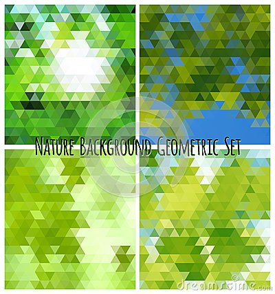Natural background geometric set