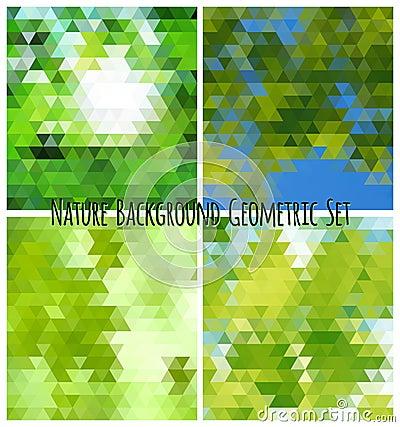 Natural background geometric set