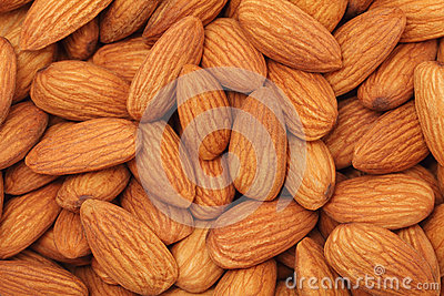 Almonds. Background