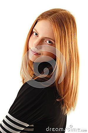 Natural beauty - no make-up young woman
