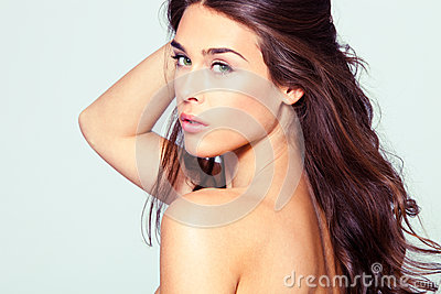 Natural beauty woman portrait