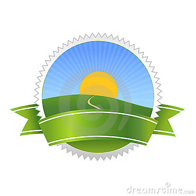 Natural bio food badge symbol