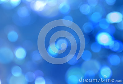 Natural blue blur sparkles abstract background