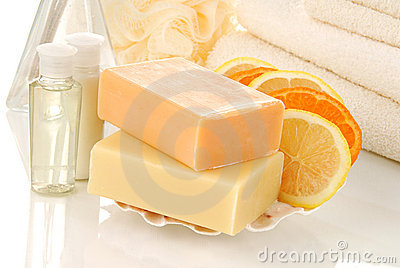 Natural citrus infused soaps