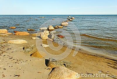 Natural coastline.