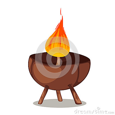 Natural coconut candle vector