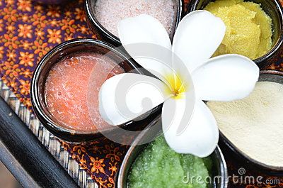 The natural colourful spa product