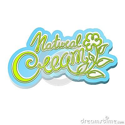 Natural cream label
