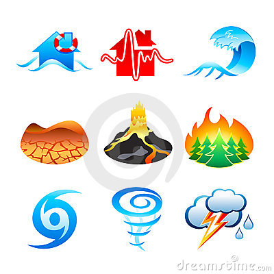 Free Natural Disaster Icons Stock Photo - 13198720