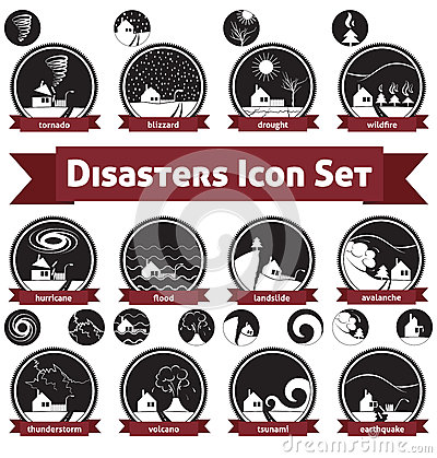Natural Disasters - Icon Set