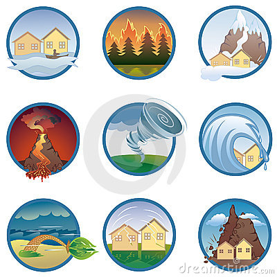 Free Natural Disasters  Icons Stock Images - 15884204