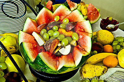 Natural fruits decoration. Watermelon