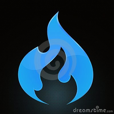 Free Natural Gas. Blue Fire Stock Images - 13451004
