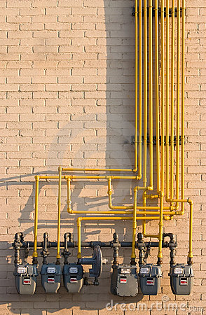 Natural Gas meters maze