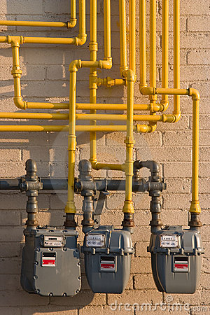 Natural Gas meters & pipes