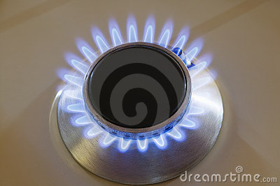 Natural gas stove burner
