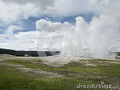 Natural geyser