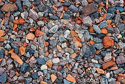 Natural gravel texture