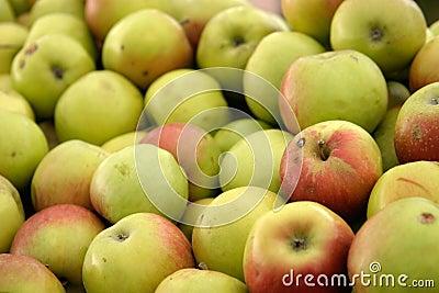 Natural green apples