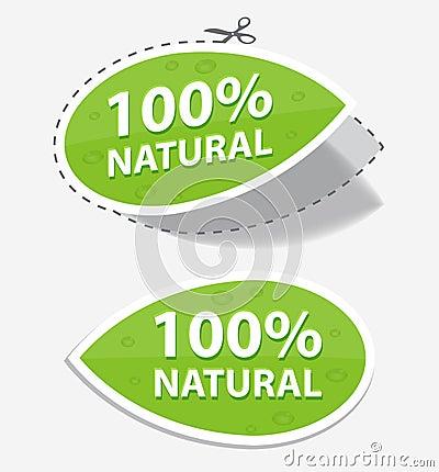 Natural green labels