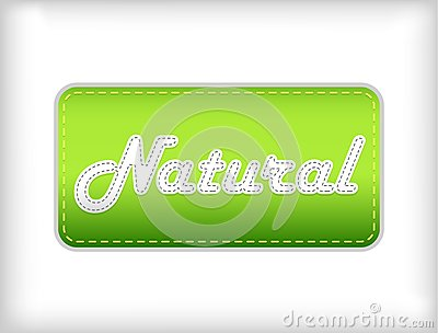 Natural green sticker.