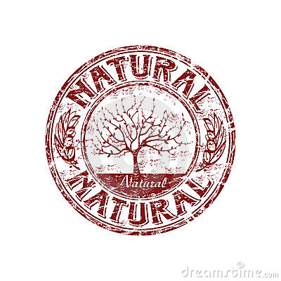 Natural grunge rubber stamp