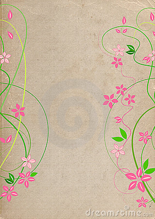Natural grungy background with flowers