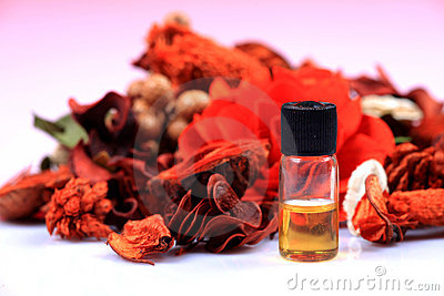 Natural healing oil bottle