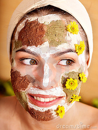 Natural homemade clay  facial masks .