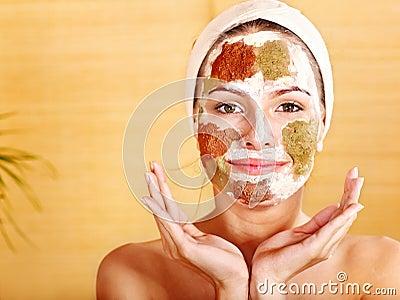 Natural homemade clay  facial masks .