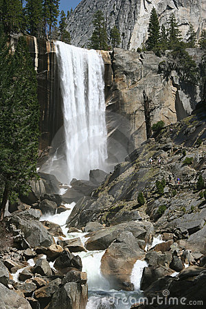 Natural landmark destination Vernal falls