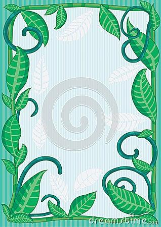 Natural Leaves Frame_eps