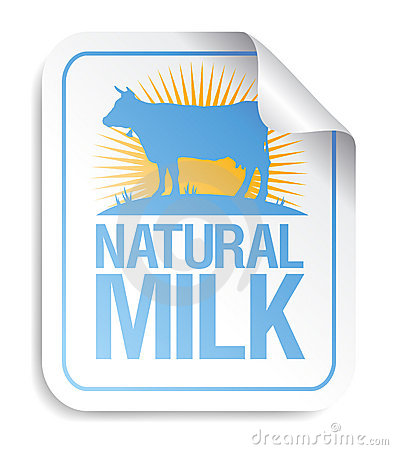 Natural milk sticker.