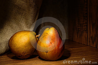 Natural Organic Pears Vintage Old Master Style