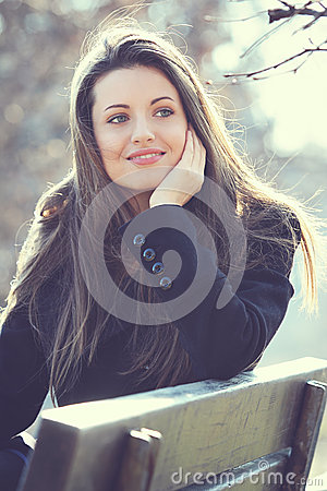 Natural outdoor portrait of a beautiful girl