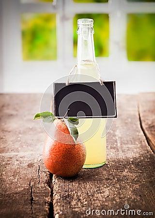 Natural pear juice display