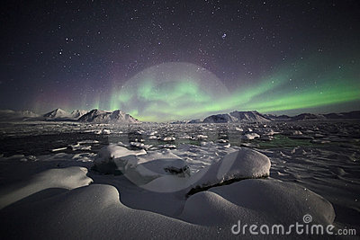 Natural phenomenon of Northern Lights