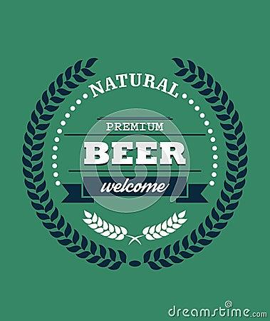 Free Natural Premium Beer Label Stock Image - 42484591