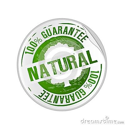 Free Natural Product Guarantee Stamp Stock Photos - 10598883