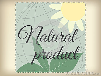 Natural product label.