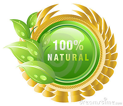 Natural products label
